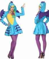 Dierenpak blauwe draak verkleed kostuum jurk voor dames trend