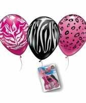 Dierenprint ballonnen 12 stuks trend