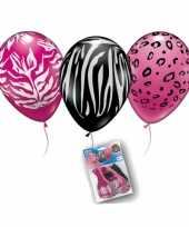 Dierenprint ballonnen 6 stuks trend