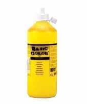 Dikke gele verf 500 ml trend 10093423