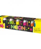 Dikke neon verf 6 x 50 ml trend