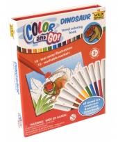 Dino kleurboeken met stiften trend