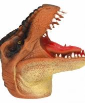 Dino world latex handpop bruin 14 cm trend