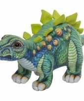 Dinosaurus speelgoed artikelen stegosaurus knuffelbeest gekleurd 30 cm trend