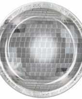 Disco bal wegwerp bordjes 8 stuks trend