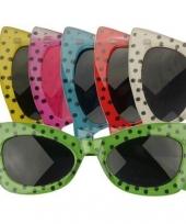 Disco bril met stippen trend