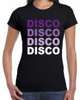 Disco feest t-shirt zwart voor dames trend