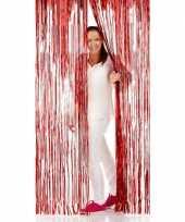 Disco folie deurgordijnen rood trend