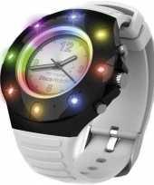 Disco horloge voor kinderen volwassenen wit bandje trend