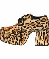 Disco luipaard print schoenen heren trend
