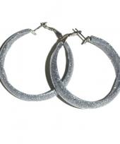 Disco oorbellen zilver trend