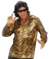 Disco shirt goud voor mannen trend
