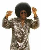 Disco shirt zilver voor mannen trend