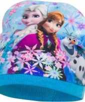 Disney frozen fleece muts lichtblauw voor meisjes trend
