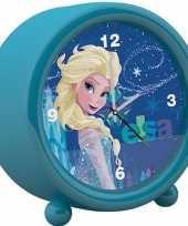 Disney frozen kinder wekker klokje blauw 11 5 x 12 cm trend