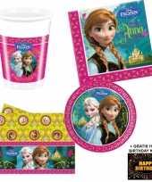 Disney frozen kinderfeestje versiering tafel pakket 8 pers kaa trend