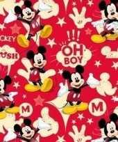 Disney inpakpapier mickey mouse rood 200 x 70 cm op rol trend