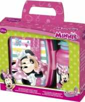 Disney lunchbox en beker minnie mouse trend