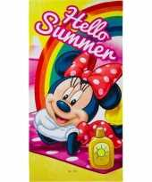 Disney minnie mouse summer badlaken strandlaken 70 x 140 cm trend