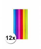 Diverse kleuren kadopapier 12 rollen trend
