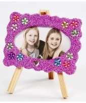 Diy fotolijstje knutselen met paarse klei trend