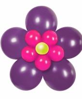 Doe het zelf ballon set bloem paars roze trend