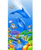 Dolfijn strandlaken 75 x 150 cm trend