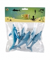 Dolfijnen familie gemaakt van rubber 5st trend