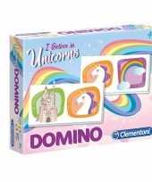 Domino spel eenhoorn voor kinderen trend