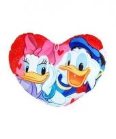 Donald en katrien duck hart kussen 45 cm trend