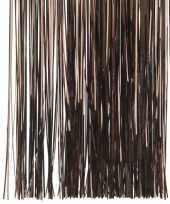Donker bruine kerstversiering folie slierten 50 cm trend