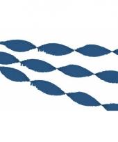 Donkerblauwe crepe papier slinger 30 meter trend