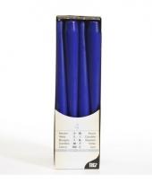Donkerblauwe kaarsen 25 cm trend