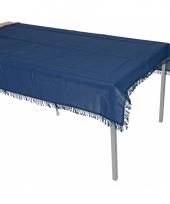 Donkerblauwe tafelzeil voor buiten 220 x 140 cm trend