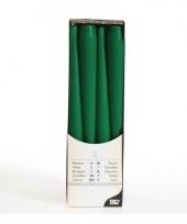 Donkergroene kaarsen 25 cm trend