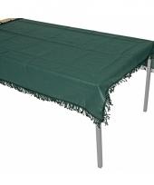 Donkergroene tafelzeil voor buiten 220 x 140 cm trend