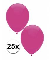 Donkerroze decoratie ballonnen 25 stuks trend