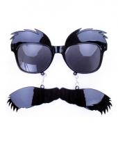 Doorzichtige bril met snor trend