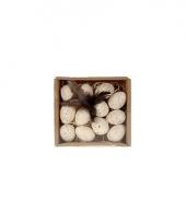 Doosje met decoratie eitjes 12 stuks trend 10064962
