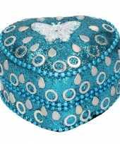 Doosje voor melktanden vlinder blauw 6 cm trend