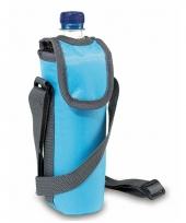 Draagbaar lichtblauw koeltasje voor flessen trend