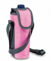 Draagbaar roze koeltasje voor flessen trend