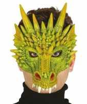 Draak draken horror masker van foam trend