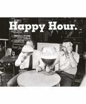 Drank kroeg poster happy hour 61 x 91 cm wanddecoratie trend