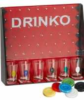 Drankspel drinko shotspel met 6 shotglaasjes trend