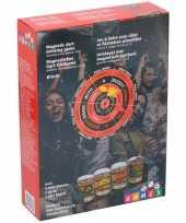 Drankspel magnetisch dartbord met 4 shotglazen 25ml trend