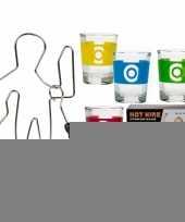 Drankspel zenuwspiraal met shotglazen trend