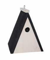 Driehoekig vogelhuisje hout 18 cm trend