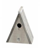 Driekhoek vogelhuisje 23 cm trend