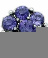 Drukknoop blauwe steentjes voor chunk sieraad 1 8 cm trend